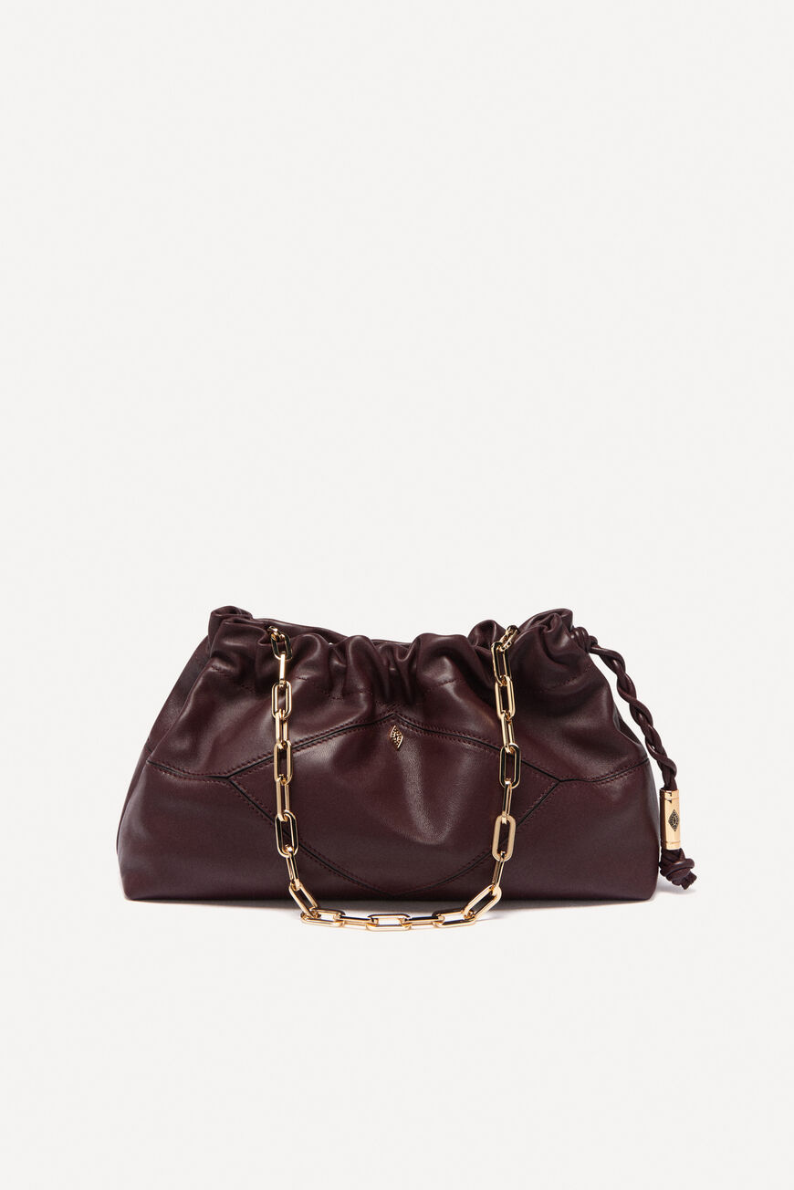 SAC CLUTCH FROISSEE CUIR NAPPA CLUTCH BAGS BRUNELLO