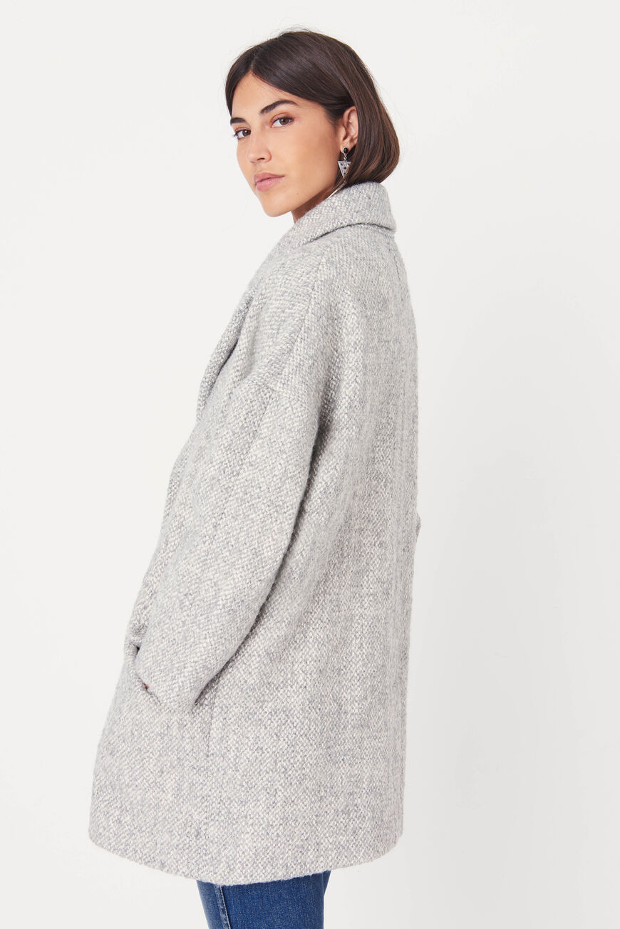 MANTEAU CHARLY 40% GRIS