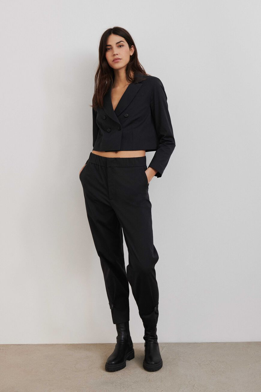 BROEK VALMY TROUSERS CARBONE