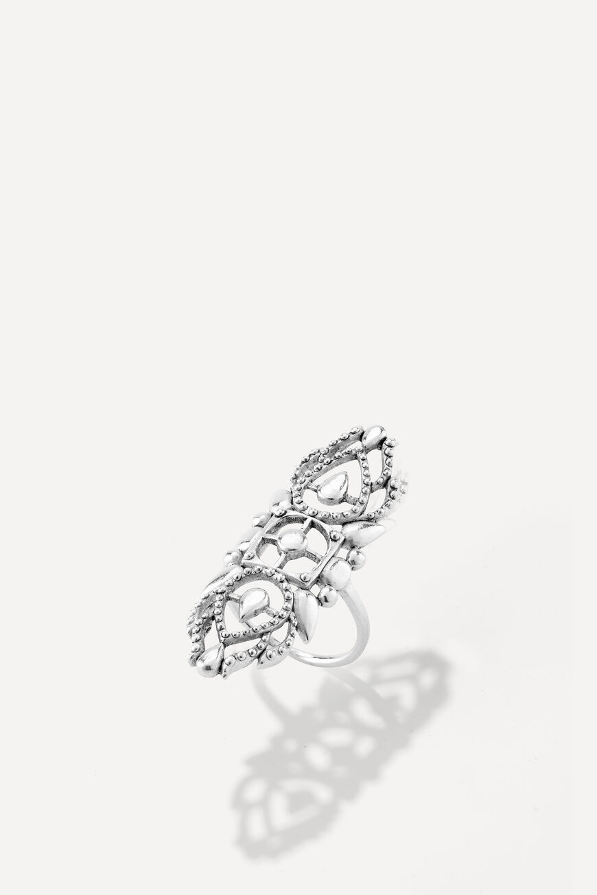 RING ROSE JEWELS ARGENT