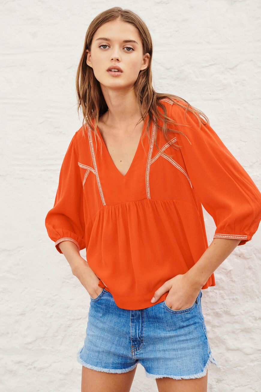 BLOUSE AMBER TOPS & SHIRTS ROUGE