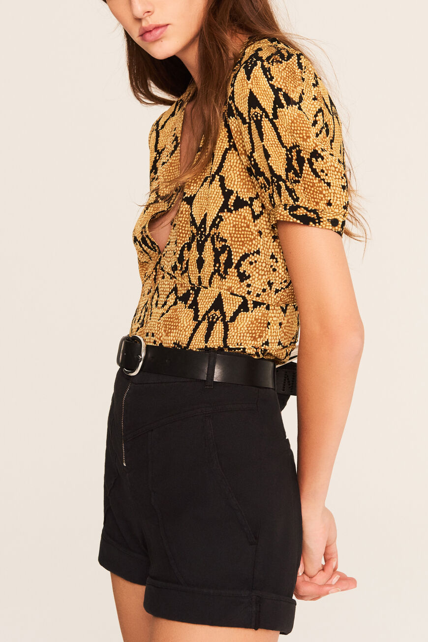 TOP CLEO TOPS & CHEMISES OCRE