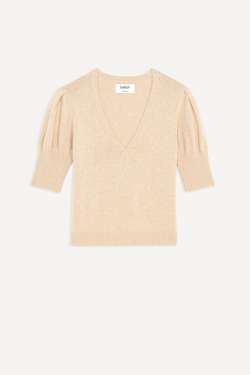 SWEATER MATHIS JUMPERS & CARDIGANS BEIGE BA&SH