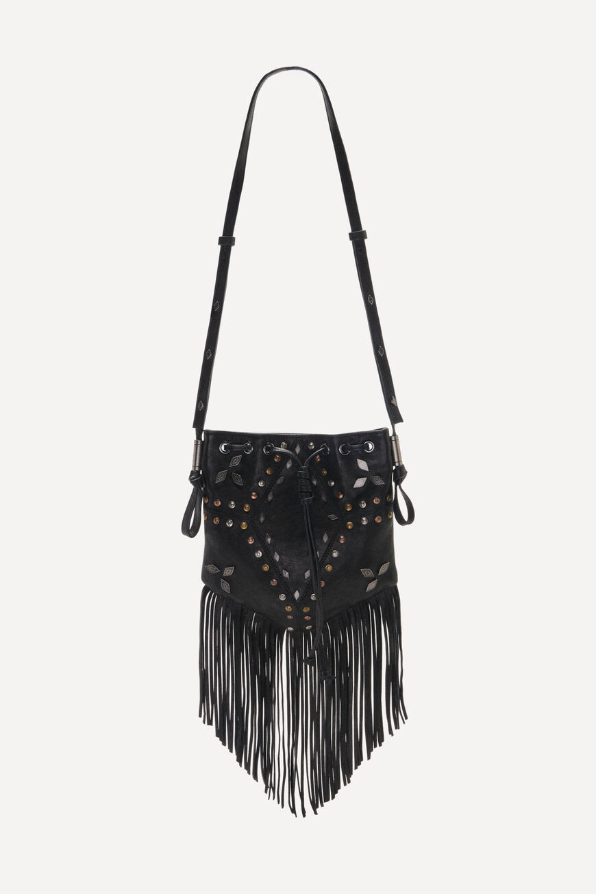 POUCH-BAG SPARROW CRUSH NOIR
