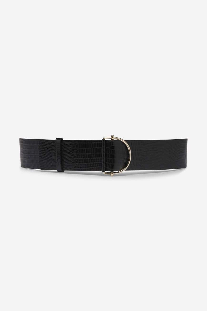 BYZANCE BELT LEATHER NOIR