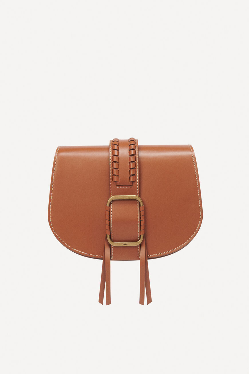 TEDDY M LEATHER BAG CROSSBODY BAGS TAN
