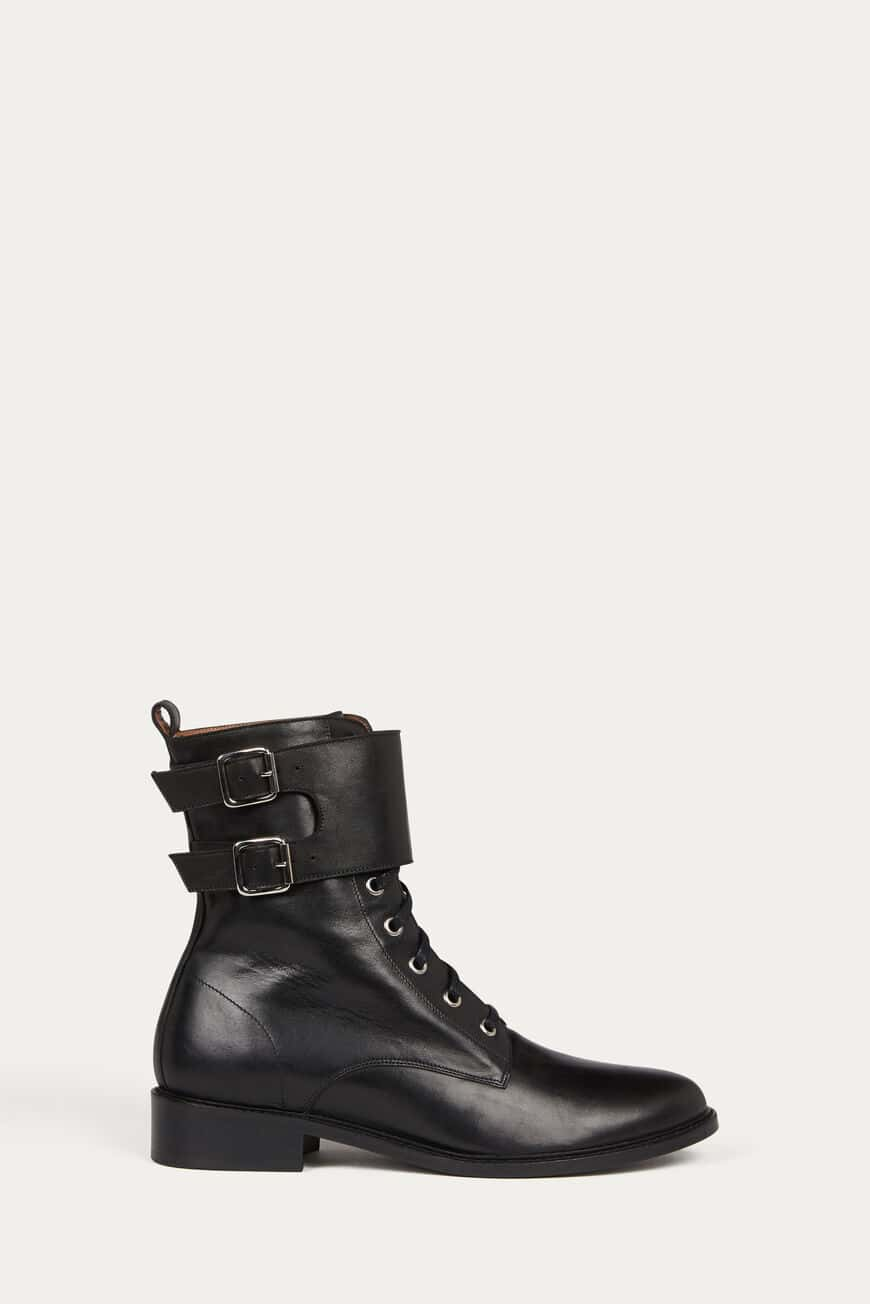 STIEFELETTEN COMO LEATHER NOIR