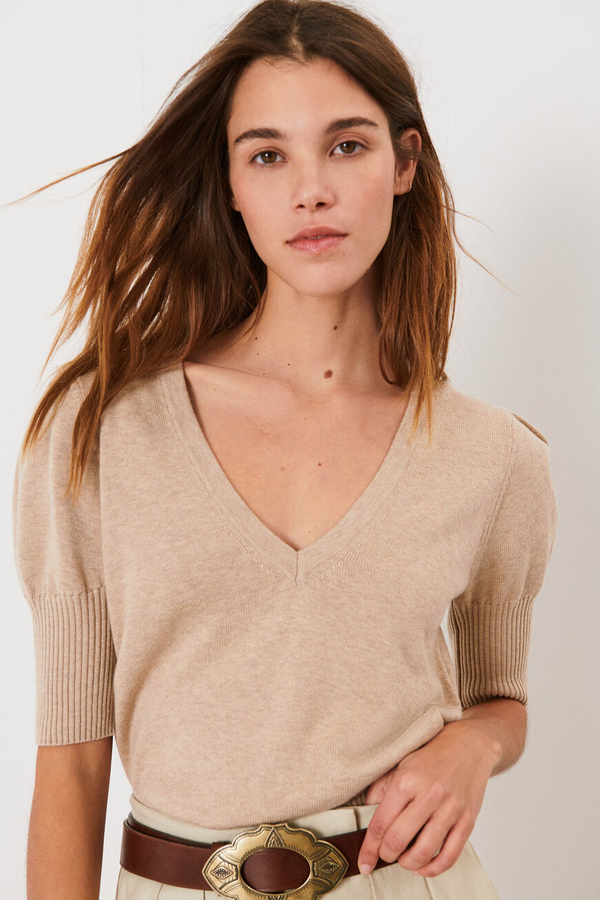 TRUI MATHIS JUMPERS BEIGE