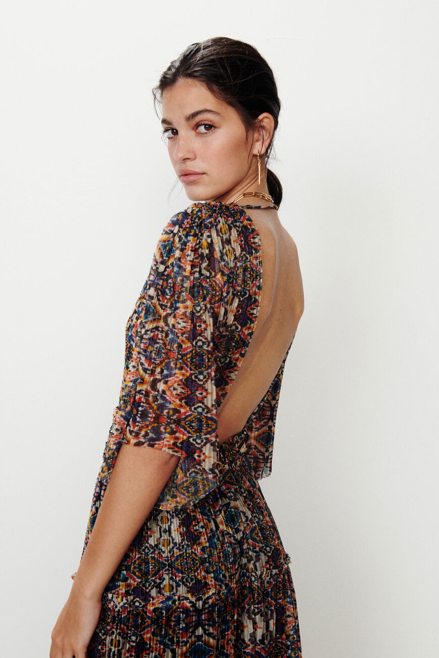 KLEID PERLA MAXI DRESSES MULTICO BA&SH