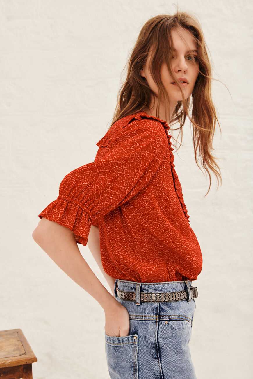 TOP VOILE TOPS & SHIRTS ROUGE BA&SH