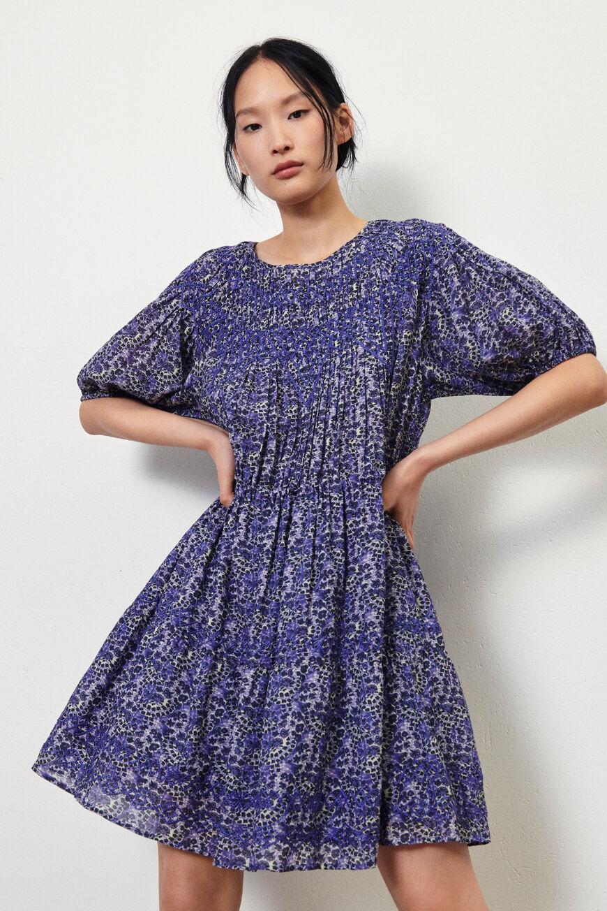DRESS IRIS MINI DRESSES BLEU BA&SH