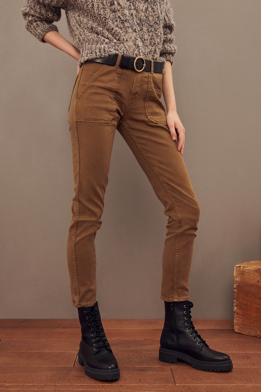 CSALLY JEAN TROUSERS OCRE
