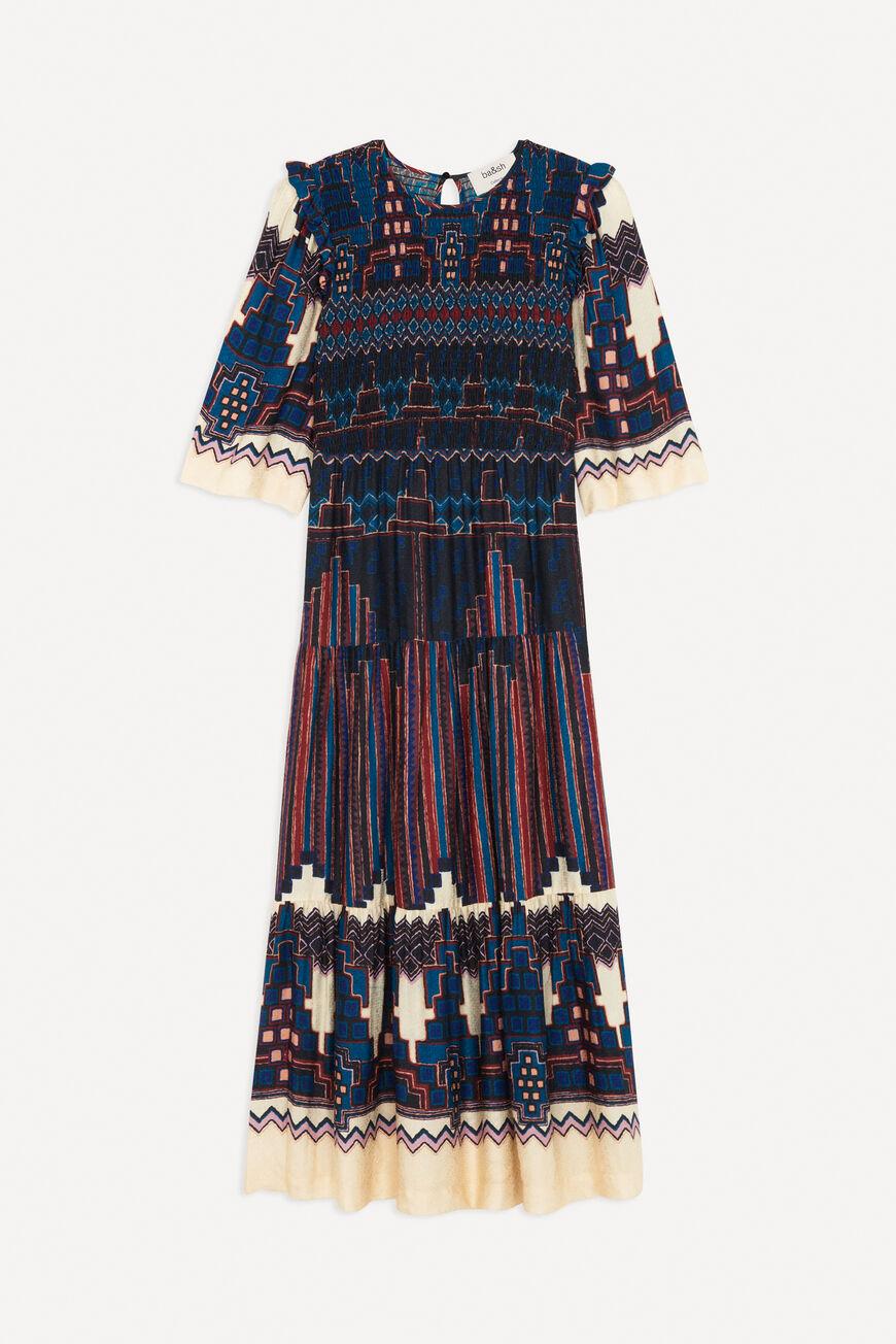 DRESS MANDIE MIDI DRESSES BLEU BA&SH