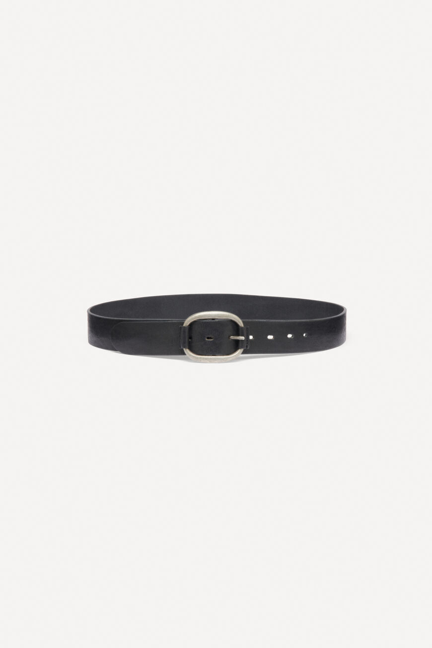 BELT BARLONE LEATHER NOIR