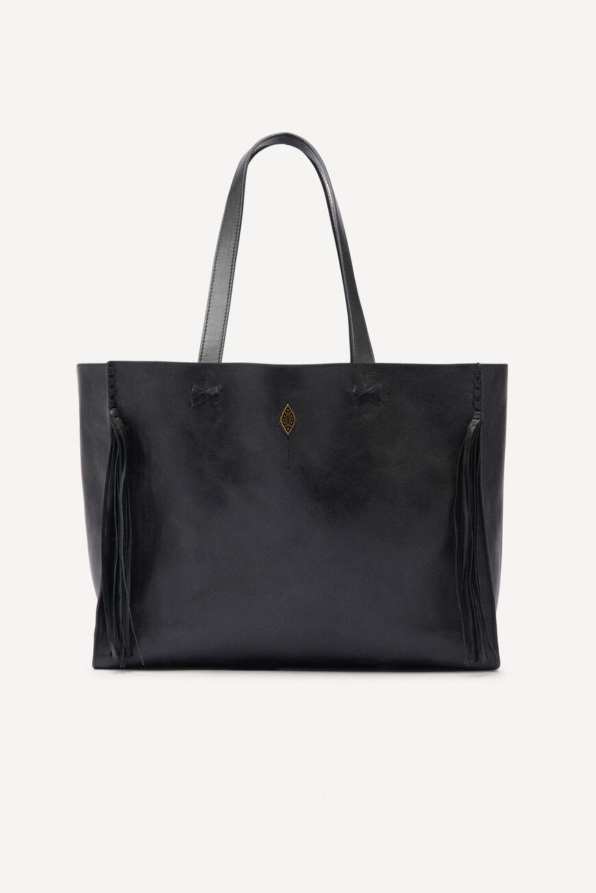 LEATHER TOTEBAG TOTE BAGS NOIR