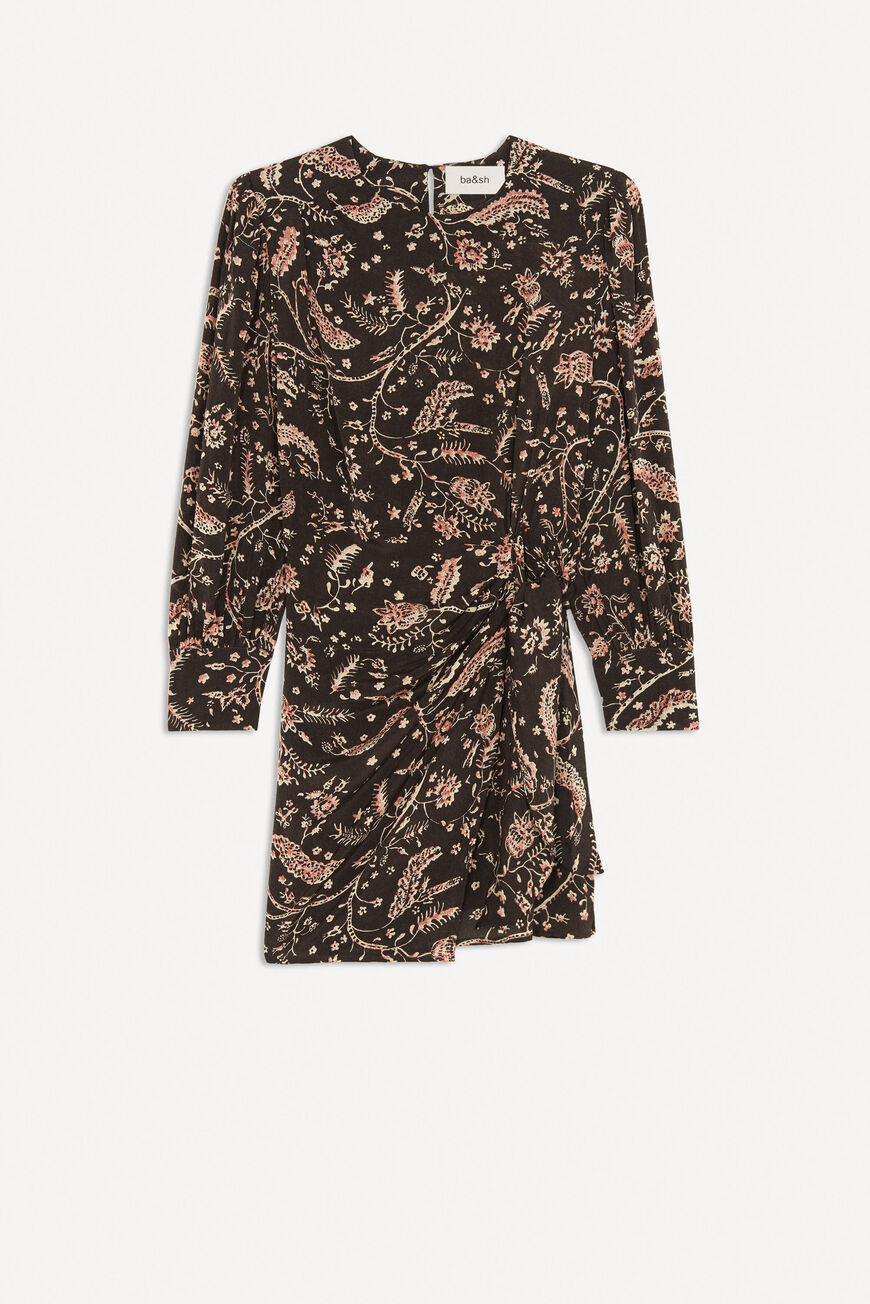 DRESS COSTEL MINI DRESSES CARBONE BA&SH