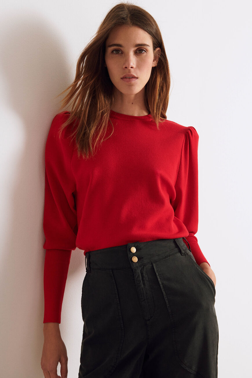 PULL SADY MAILLES ROUGE BA&SH