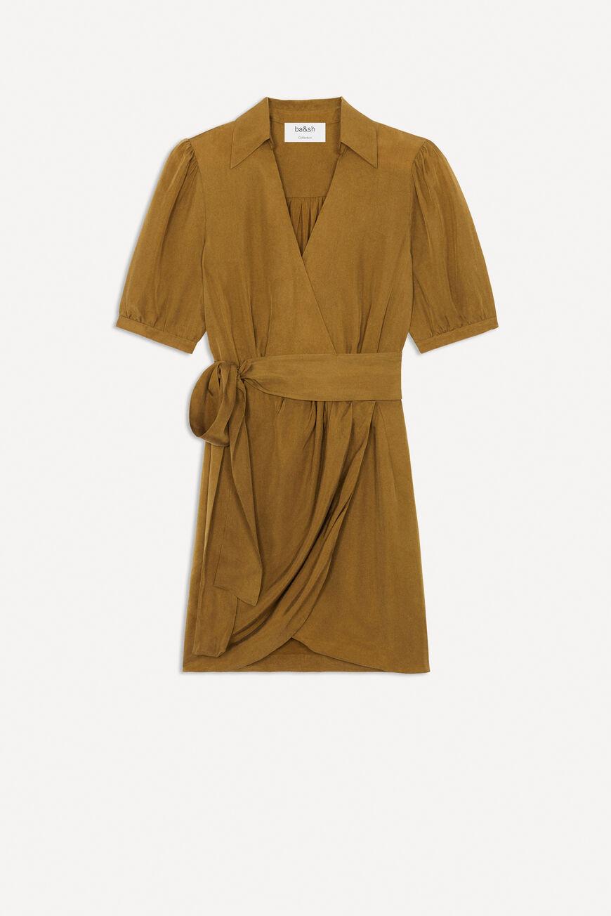 DRESS ADA MINI DRESSES CAMEL BA&SH