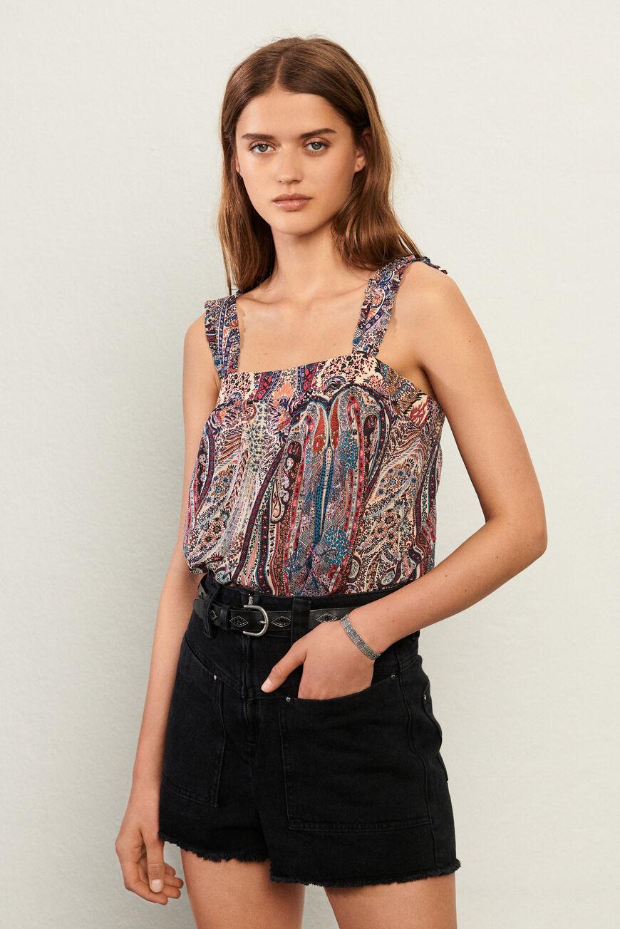 TOP BERTHIE tops & chemises ROSE