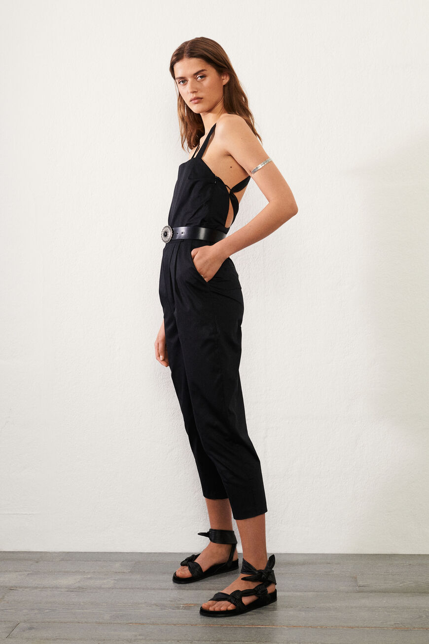 JUMPSUIT CHAD OPEN BACK NOIR