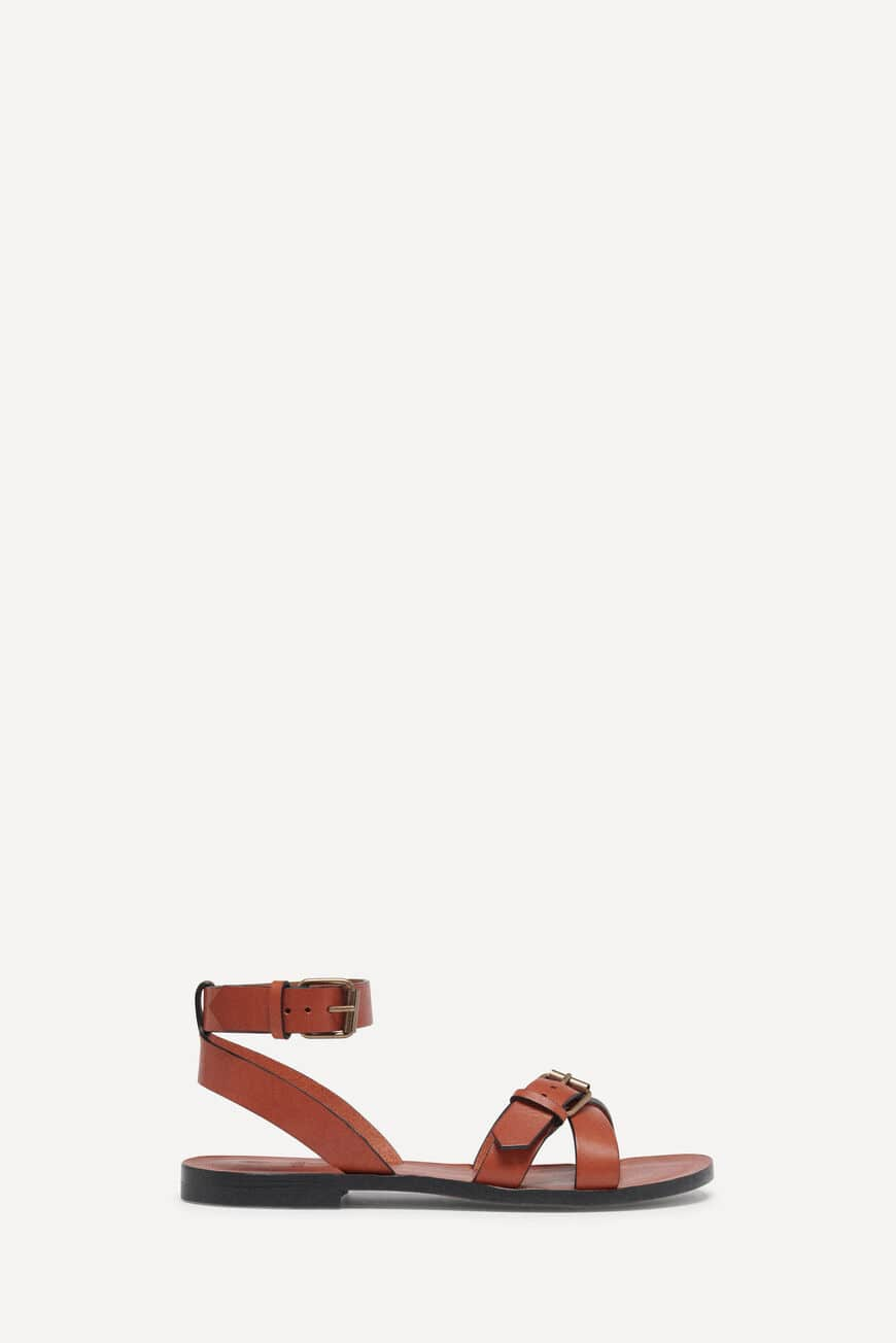 SANDALETTEN CAMELIA PUMPS AND SANDALS COGNAC