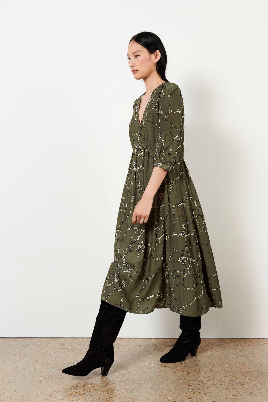 DRESS MOSIRIS MAXI DRESSES KAKI BA&SH