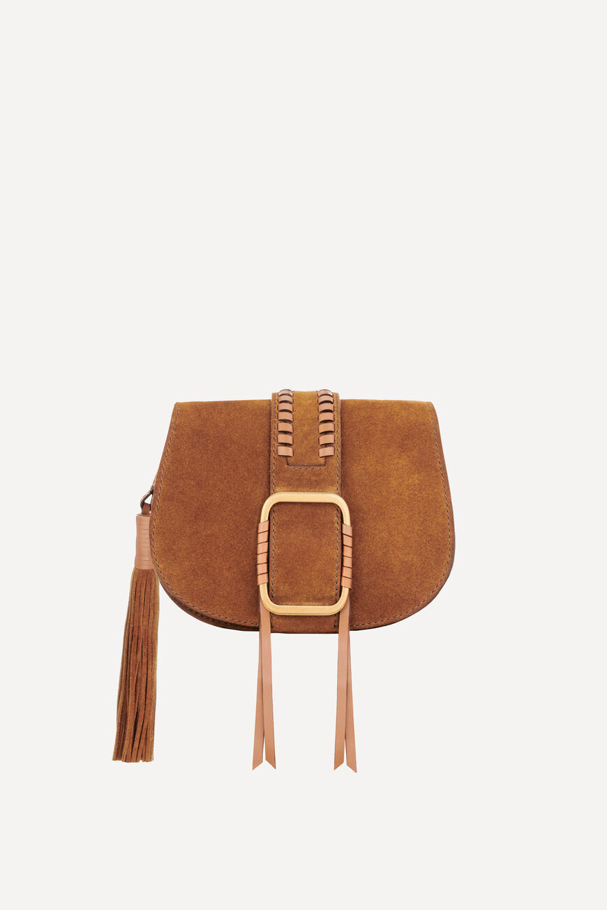 TEDDY S SUEDE BAG TEDDY BAGS COGNAC