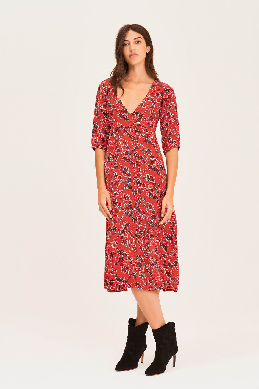 ROBE JAZZ ROBES MIDI ROUGE