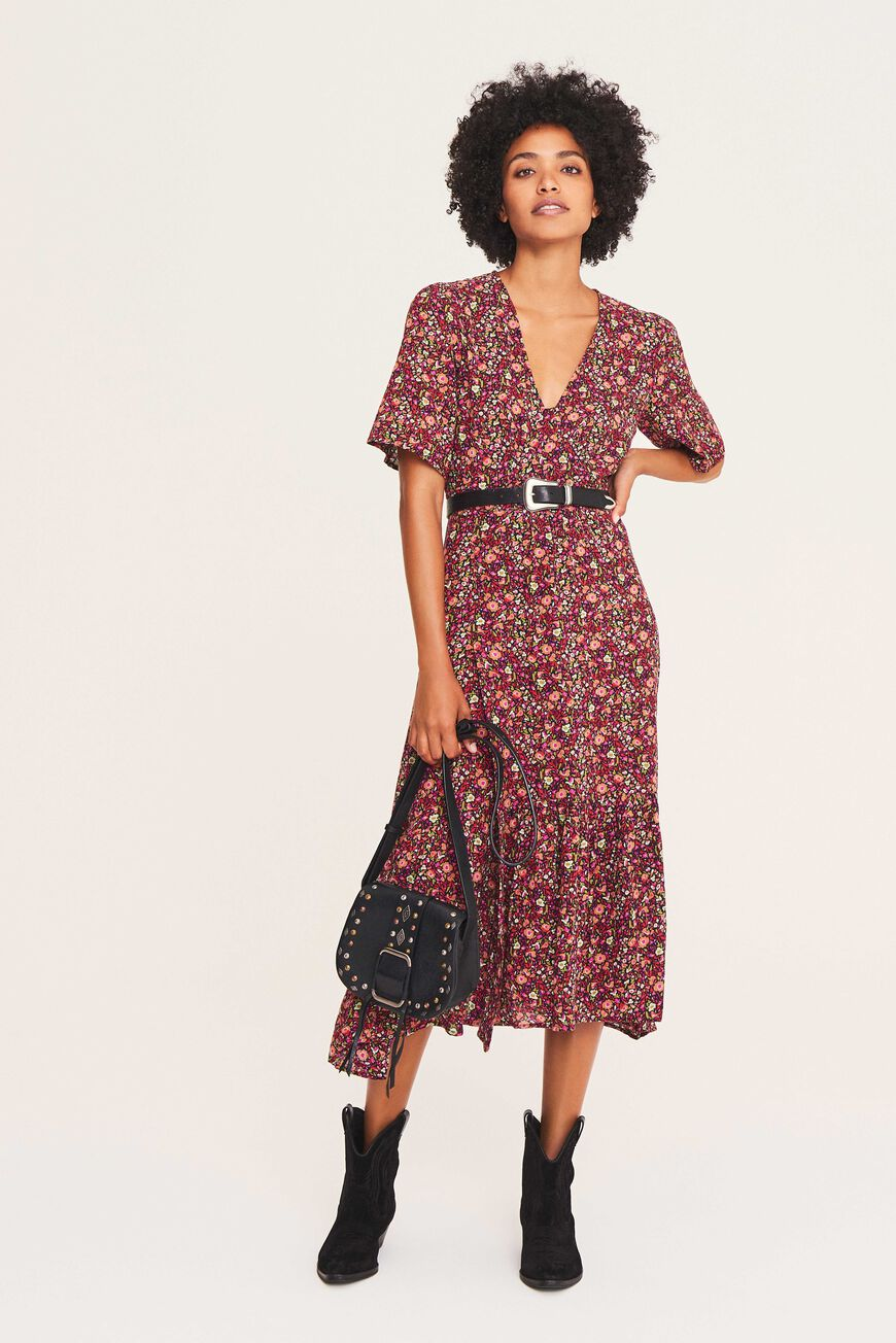 SILVINE DRESS MIDI DRESSES