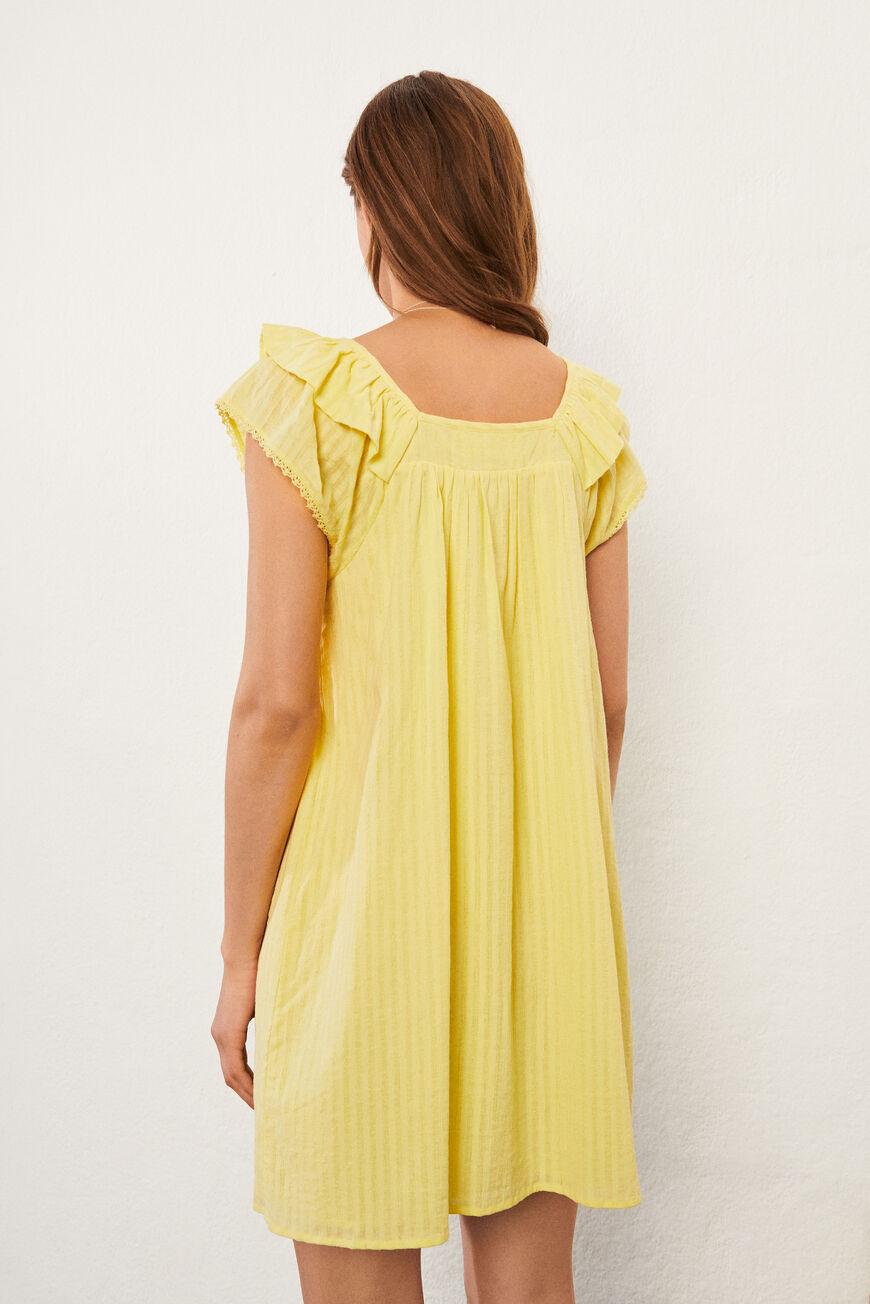 DRESS URIEL MINI DRESSES JAUNE BA&SH