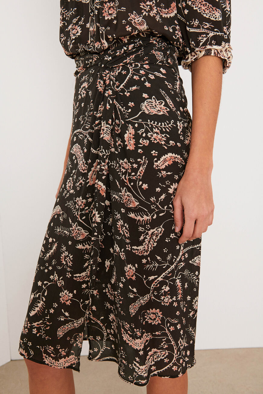 ROCK CAMILLE SKIRTS CARBONE BA&SH