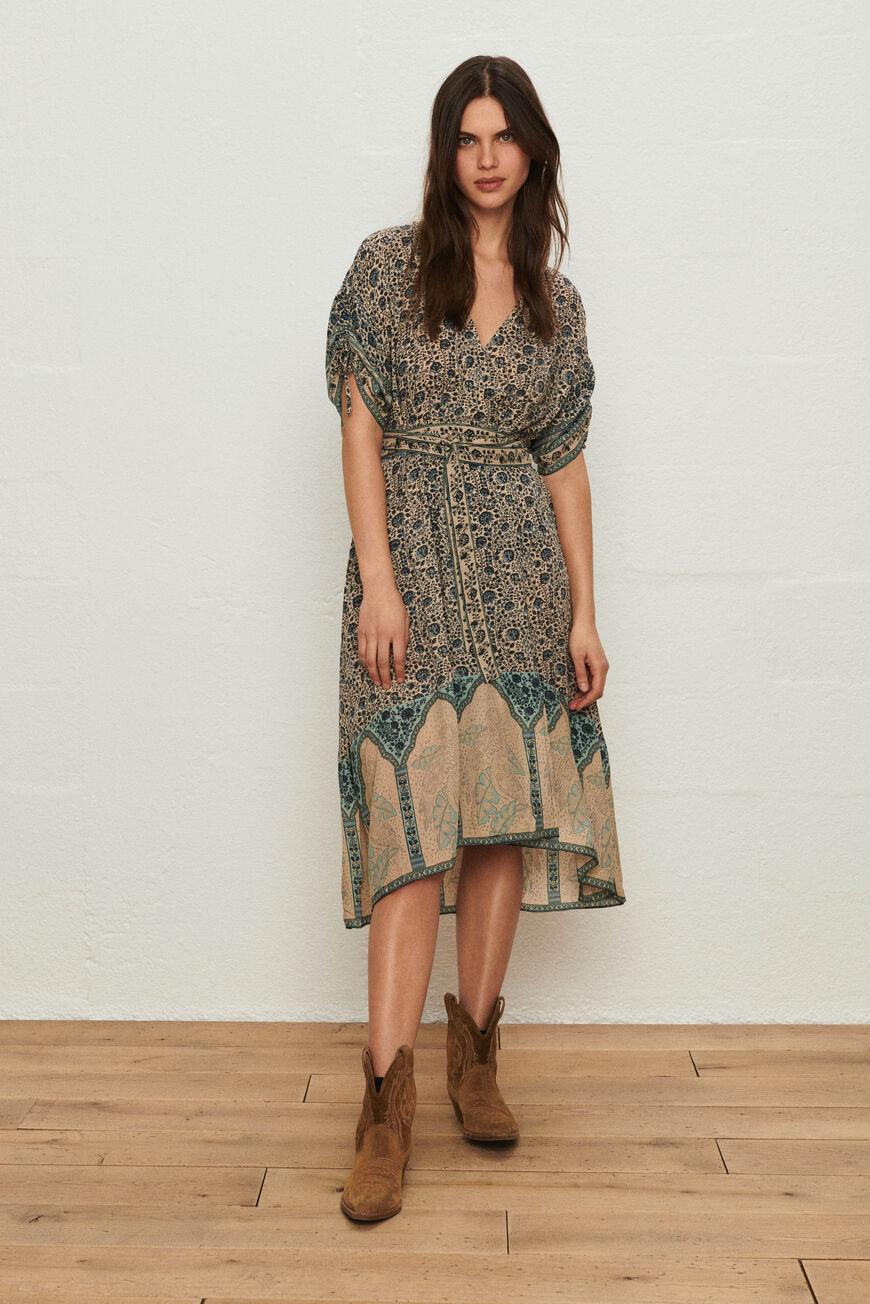 DRESS TAMARA MAXI DRESSES VERTDEAU BA&SH